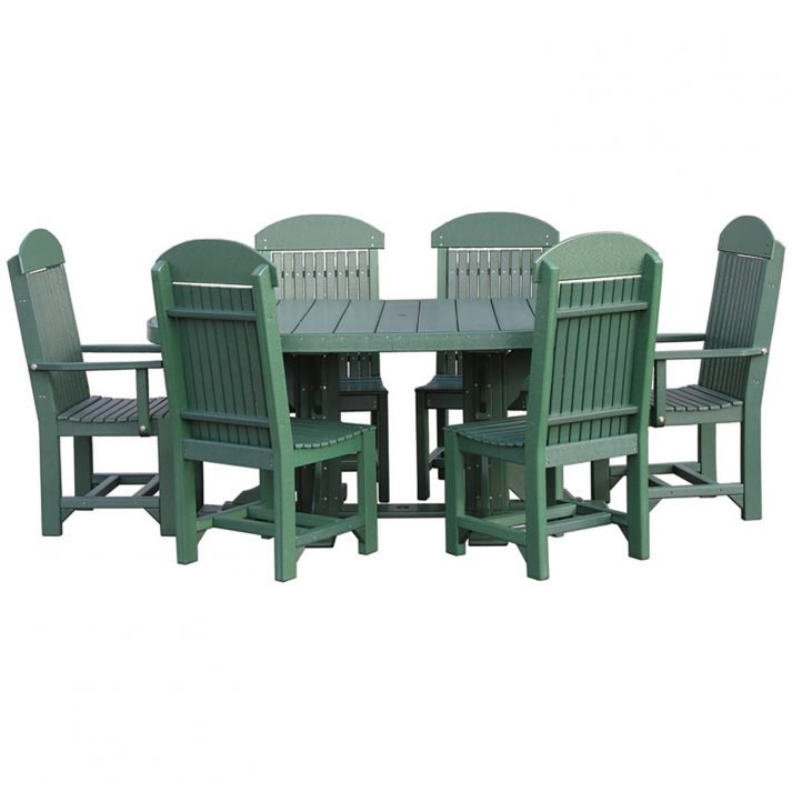 luxcraft-poly-4ft-6ft-oval-table-set-2-with-4-table-chairs-2-captain-chairs green