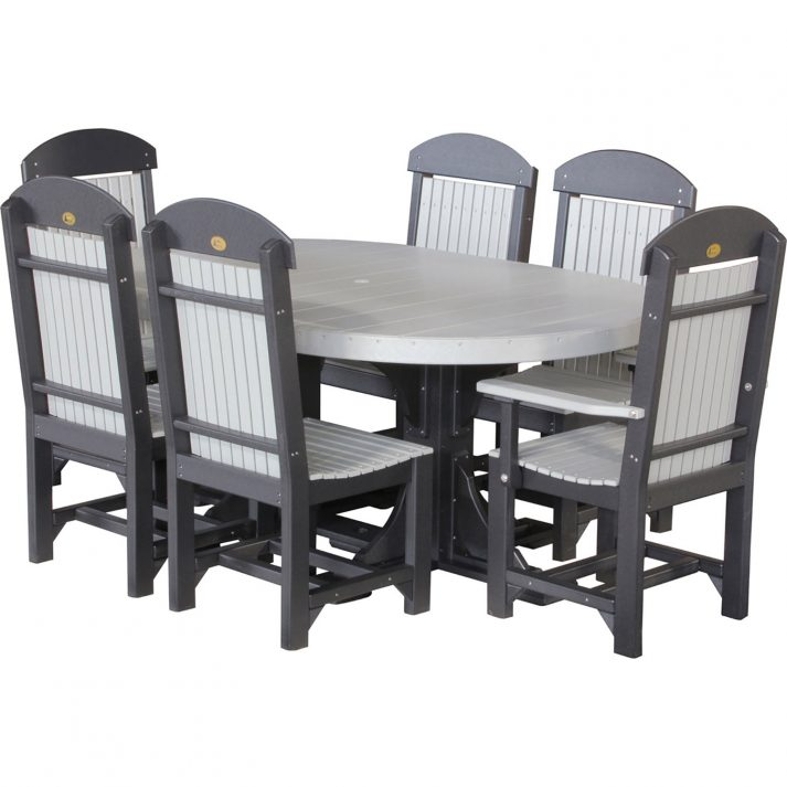 luxcraft-poly-4ft-6ft-oval-table-set-2-with-4-table-chairs-2-captain-chairs grey