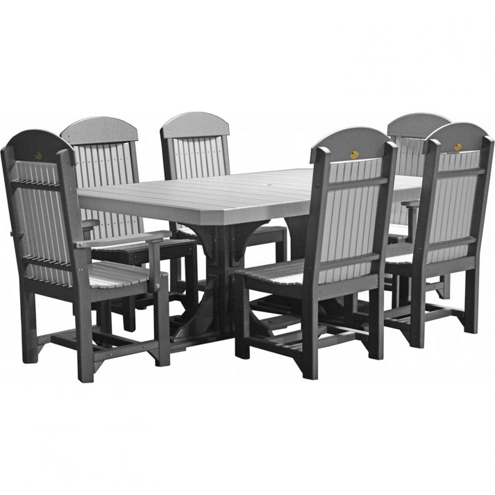 0004824 luxcraft poly 4ft 6ft rectangular table set 2 with 4 table chairs 2 captain chairs 1