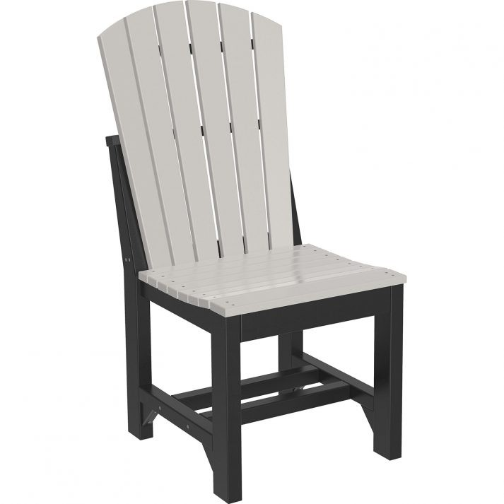 ASCDDGB Adirondack Side Chair Dining Height Dove Gray Black