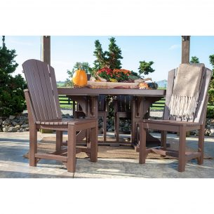 Adirondack Side Chairs Dining Height Chestnut Brown