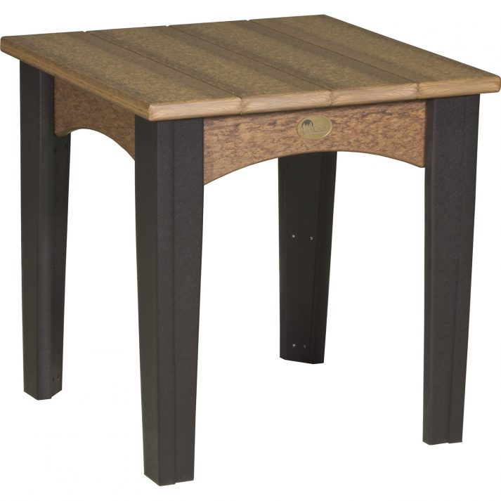 IETAMB Island End Table Antique Mahogany Black