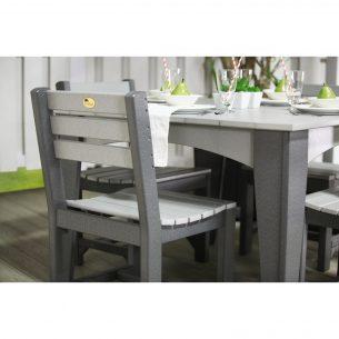 Island Side Chair Dining Height Dove Gray Slate