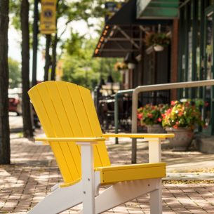 Lakeside Adirondack Chair Yellow White scaled