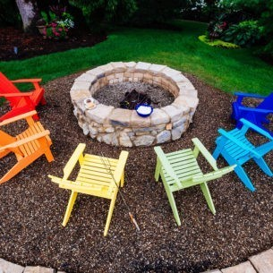 Lakeside Adirondack Chairs Red Tangerine Yellow Lime Green Aruba Blue Blue