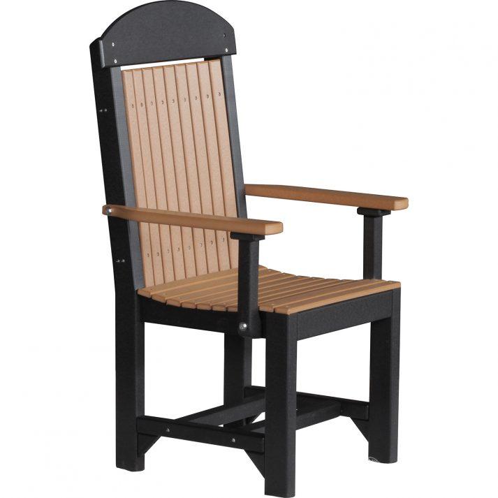 PCCDCB Poly Captain Chair Dining Height Cedar Black