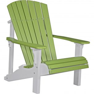 Poly-Deluxe-Adirondack-Chair-Lime-Green-White