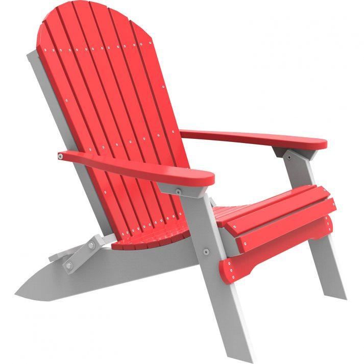 PFACRW Poly Folding Adirondack Chair Red White
