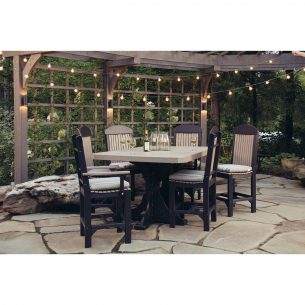 Poly 4ftx6ft Rectangular Table Set 2 Bar Height Weatherwood Black 2 1