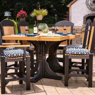Poly 4ftx6ft Rectangular Table Set 2 Counter Height Cedar Black 2 scaled