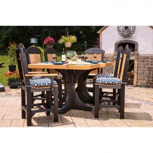 Poly 4ftx6ft Rectangular Table Set 2 Counter Height Cedar Black