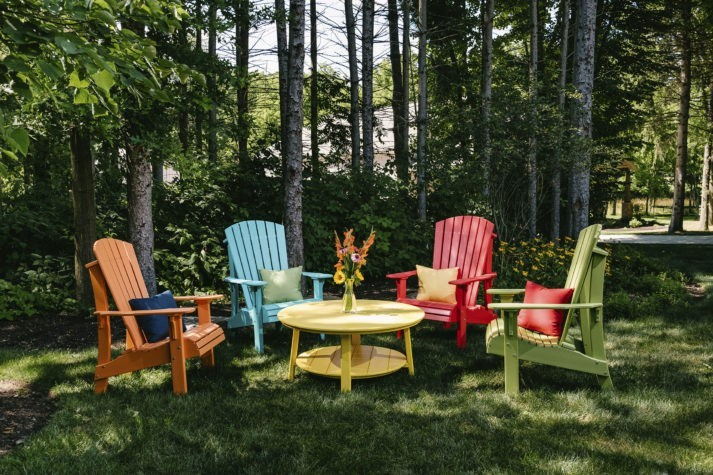 Royal Adirondack Chairs Tangerine Aruba Blue Red Lime Green