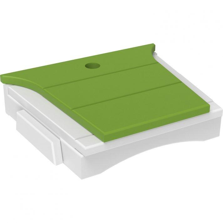 BTTLGW Balcony Tete a Tete Table Lime Green White