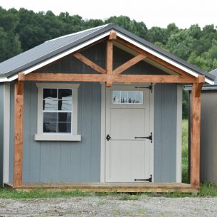 12x24 Timber Frame Cabin Custom Colors scaled