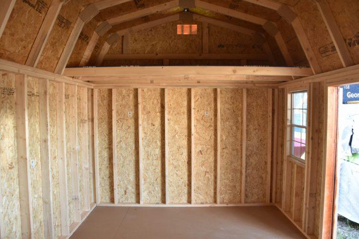 ULB 10x16 Utility Lofted Barn Inside 1 scaled