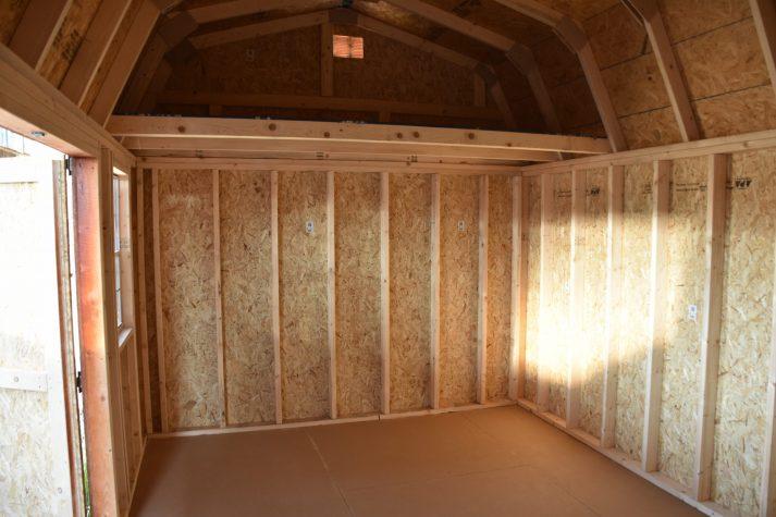 ULB 10x16 Utility Lofted Barn Inside 2 scaled