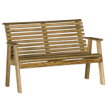 luxcraft wood plain bench 4ft sq