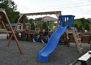 Play set in lot.