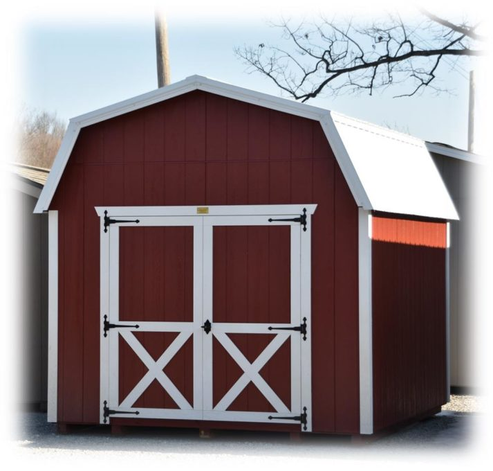 10x12 Signature Lofted Barn Rustic Red with White Trim