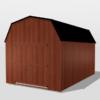 Lofted Utility Barn 10x16 Red Mahogany Urethane